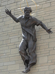 Appearing in http://www.telegraph.co.uk/news/newstopics/howaboutthat/5318718/Jesus-in-jeans-sculpture-unveiled.html